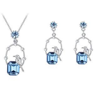 Swarovski Elements Crystal Bird Necklace Set